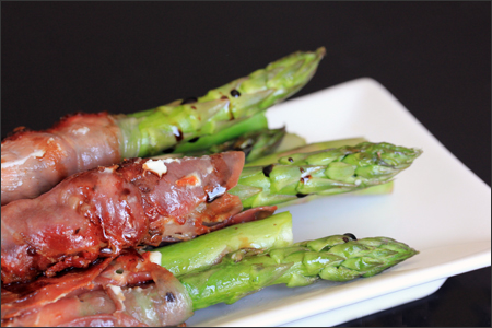 Roasted Asparagus Wrapped In Ham Recipe — Dishmaps