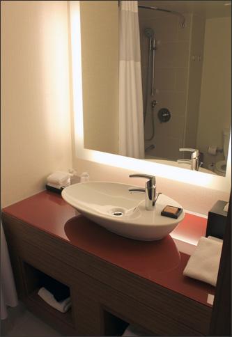 Raised bathroom sinks