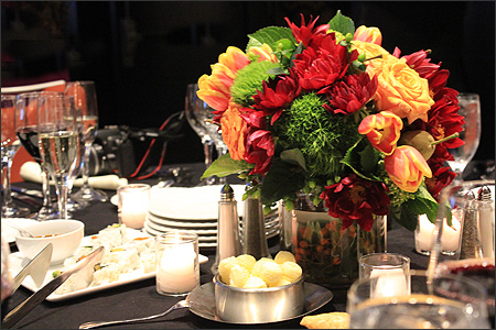 3rd annual foodbuzz gala dinner foodiddy for Annual dinner decoration