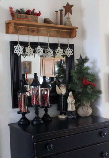 Entry Way Christmas Shelf