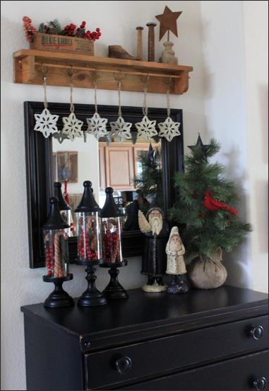 Entry Way Christmas Shelf