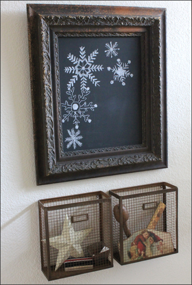 Christmas Chalk Board Snowflakes