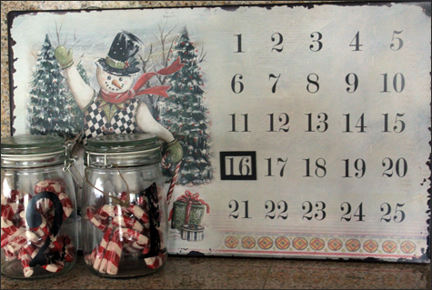 Magnetic Snowman Advent Calendar