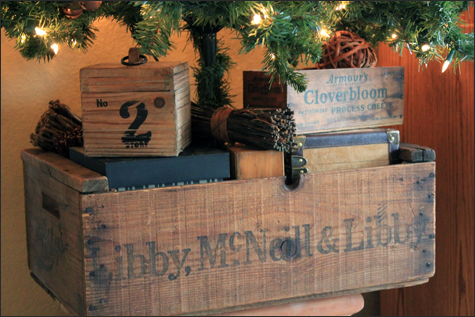 Wooden Crate Christmas Tree Stand