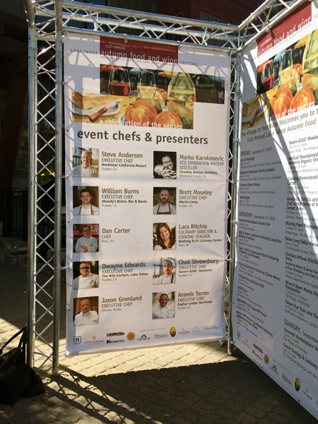 Lake Tahoe Autumn Food and Wine Festival Guest Chefs