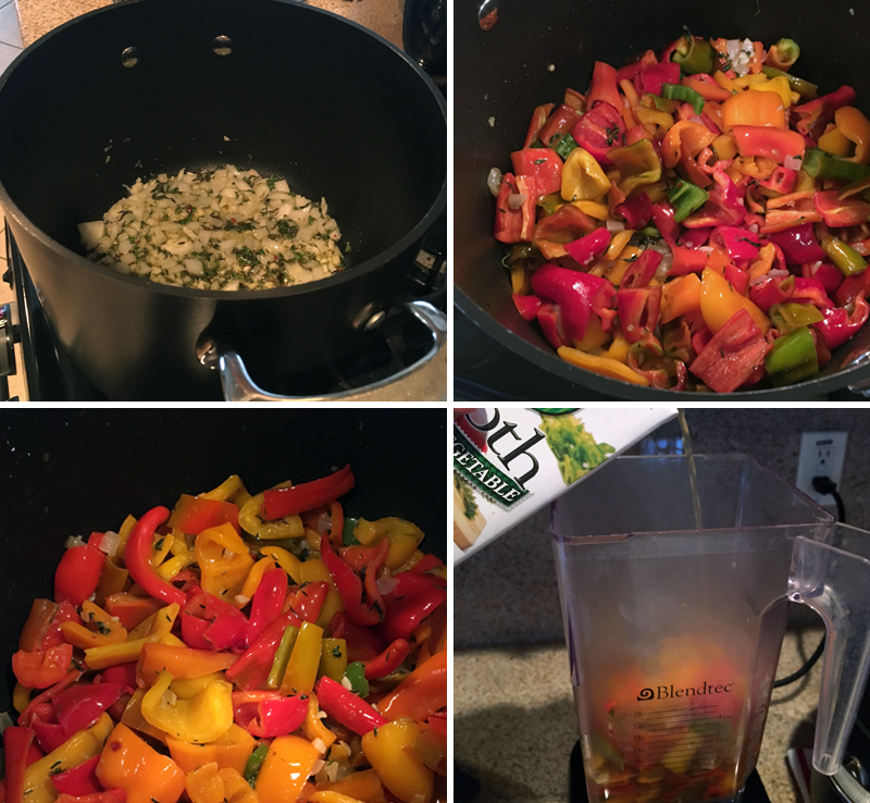 Sweet Pepper Soup Prep