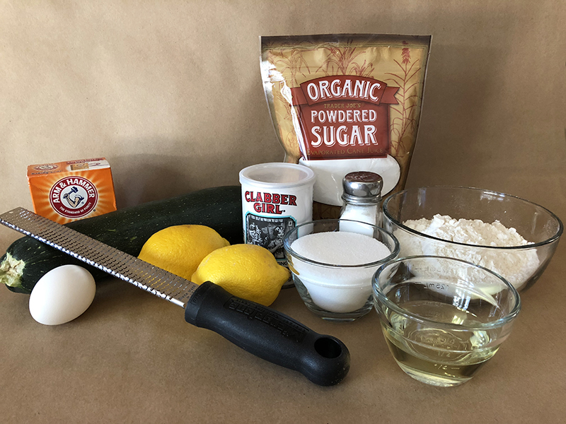 Lemon Zucchini Bread Ingredients