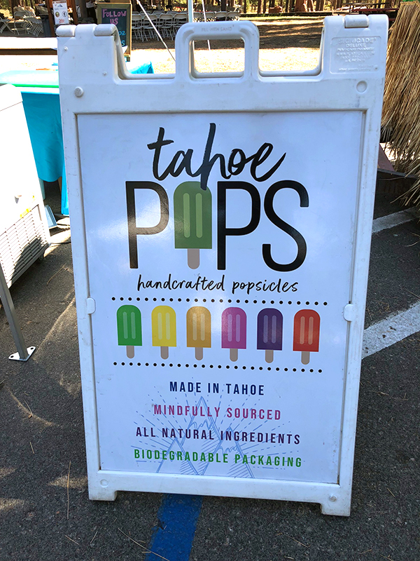 Tahoe Pops Handcrafted Popsicle Sign