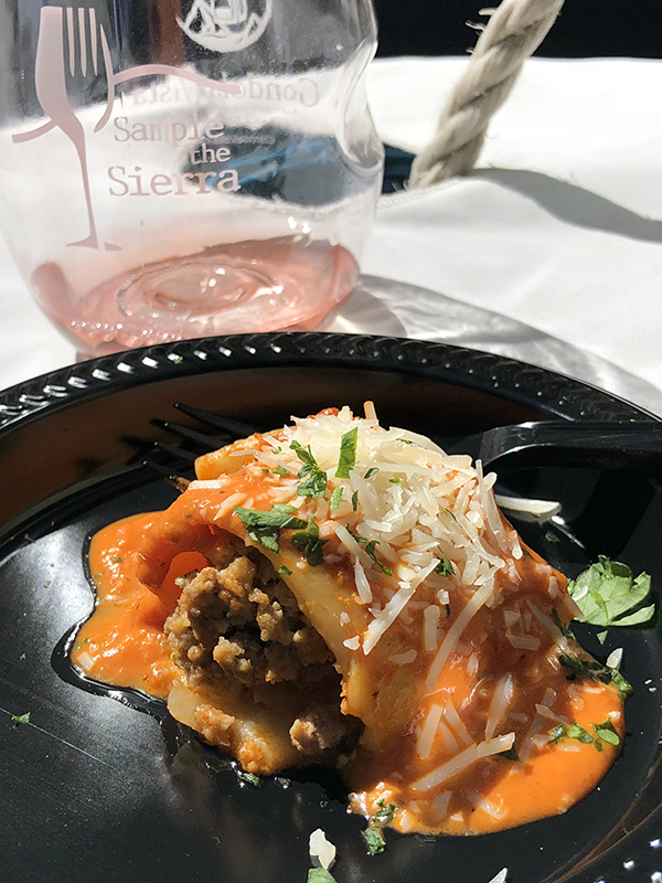 The Loft's Wild Boar Cannelloni with Pink Vodka Sauce